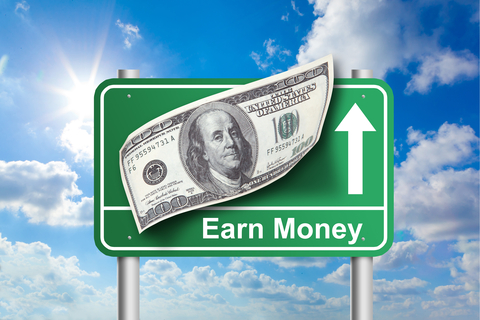 earn money sign